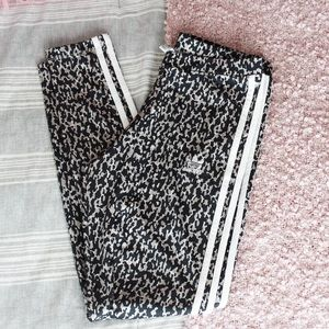 Adidas Leopard Leggings with Stripes